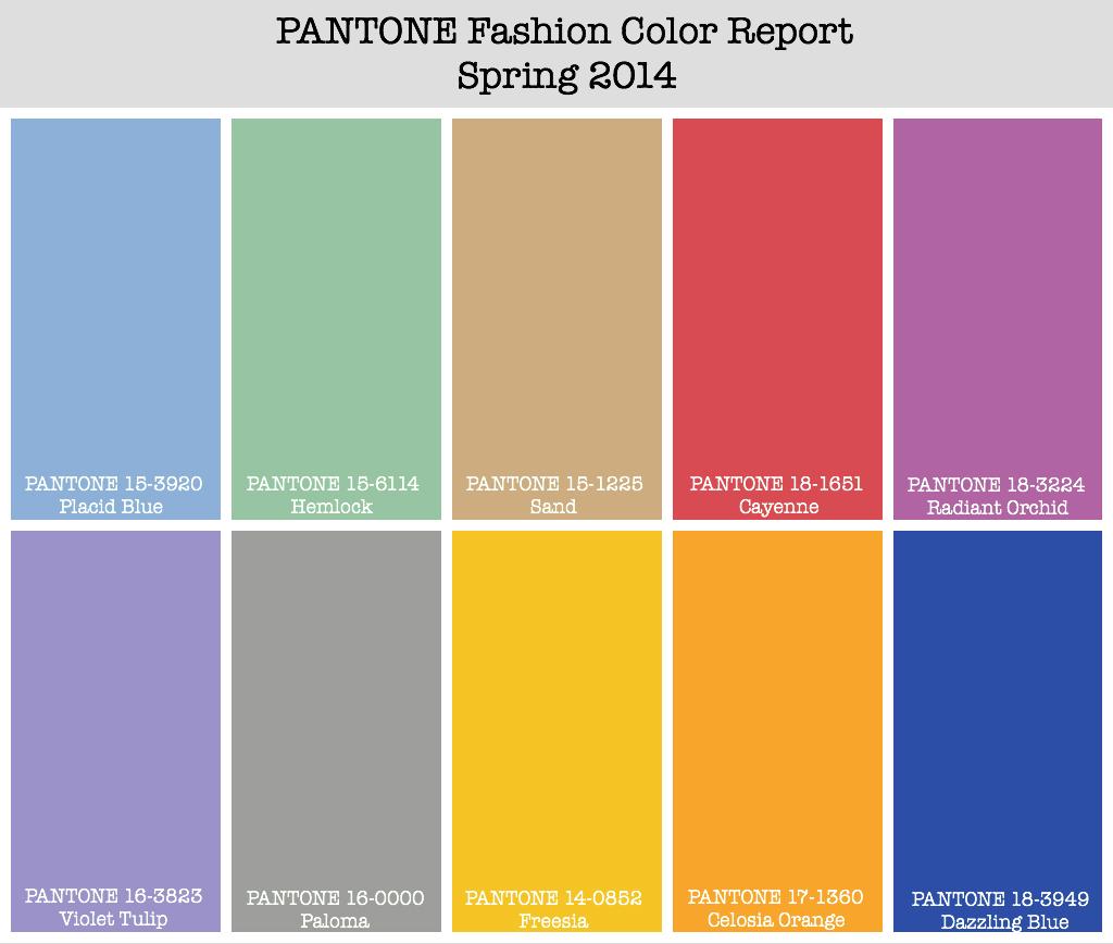 Pantone Color Report Spring 2014 Jg Style Guide